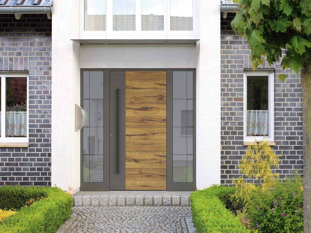 porte entrée bois design